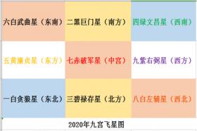 李居明2020年九宫飞星图解